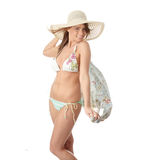 Summer teen girl in bikini Royalty Free Stock Photos