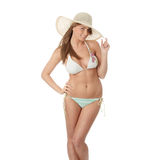 Summer teen girl in bikini Stock Photography
