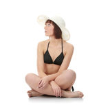 Summer teen girl in bikini Stock Images