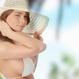 Summer teen girl in bikini Royalty Free Stock Images