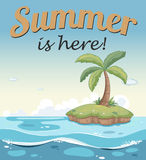 A summer template with an island Royalty Free Stock Photography