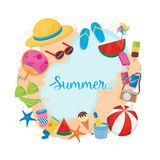 Summer template.. Summer template. several objects for summer Royalty Free Stock Photo