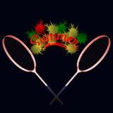 Summer tennis rackets. Bright colors Stock Photos
