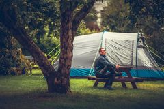 Summer Tent Camping Relax stock photography