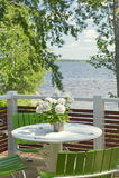 Summer Terrace Royalty Free Stock Photos