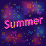 Summer text Royalty Free Stock Photography