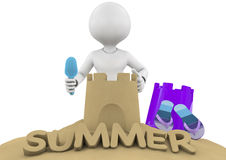 Summer text Royalty Free Stock Images