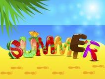 Summer text stock illustration