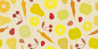 Summer texture. With fruits and vegetables Stock Photo