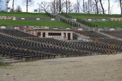Summer theater - amphitheater. Summer theater - urban natural amphitheater Royalty Free Stock Image