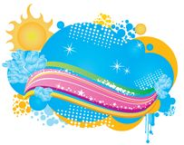 Summer theme banner Stock Photography