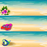 Summer theme banner set Royalty Free Stock Images
