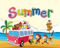 Summer theme with children on the beach Royalty Free Stock Photography