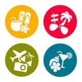 Summer theme icons Royalty Free Stock Photos