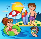 Summer theme image 1 Stock Photos