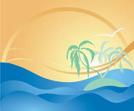 Summer Theme with Palm Trees Royalty Free Stock Image