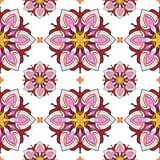 Summer theme seamless pattern. Abstract floral background, vector wallpaper, spring and summer theme for your design. Doodle style. Place the pattern on your Stock Photos