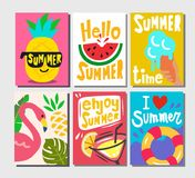 Summer themed posters Stock Photography