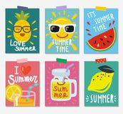 Summer themed posters Stock Image