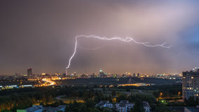 Summer thunderstorm with lightning Royalty Free Stock Image