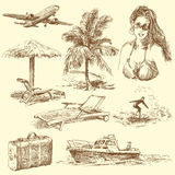 Summer time. Hand drawn collection Royalty Free Stock Photo
