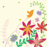 Summer time. Colorful summer illustration Royalty Free Stock Photography