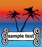 Summer time. Vector illustration with palm tree and space for text Stock Photography
