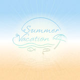 Summer time abstract background for summer vacation in vector Royalty Free Stock Photos