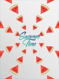 Summer time abstract in water melons poster.vector illustration. EPS 10 stock illustration
