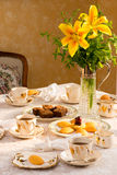 Summer time afternoon tea table. Stock Photos