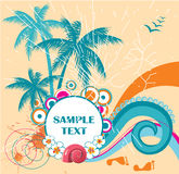 Summer time background. With place for text vector illustration