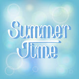 Summer time background. Abstract blue summer time background.Vector illustration Stock Photo