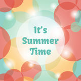 It is summer time background with bubbles Royalty Free Stock Photos