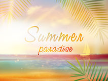Summer time background with copyspace. Stock Images