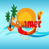Summer time. Background with  sea and sun Royalty Free Stock Photo