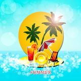 Summer time. Background with  sea and sun Stock Photography