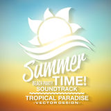 Summer time background. Summer time text background in  format Stock Image