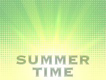 Summer time background with text. Halftone pattern background texture. Royalty Free Stock Images