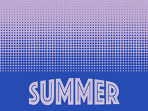 Summer time background with text. Halftone pattern background texture. Stock Photo