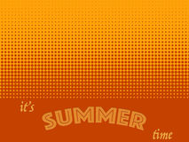 Summer time background with text. Halftone pattern background texture. Royalty Free Stock Photography