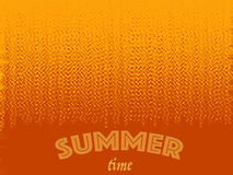Summer time background with text. Halftone pattern background texture. Stock Photos