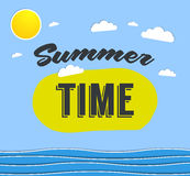 Summer time background with text Stock Image