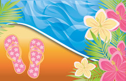 Summer time banner, Royalty Free Stock Photos