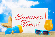 Summer time banner Royalty Free Stock Image