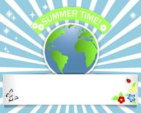 Summer time. Banner with stickers. Stock Images