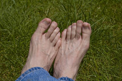 Summer Time Bare Feet Stock Photos