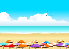 Summer Time At The Beach Royalty Free Stock Photos
