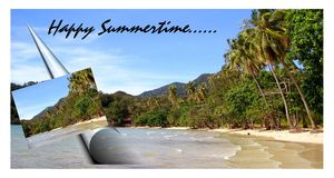 Summer time beach Holiday Royalty Free Stock Images