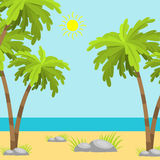 Summer time beach sea shore realistic accessory vector illustration sunshine travel. Summer time beach sea shore realistic accessory vector illustration Stock Photos
