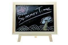 Summer time blackboard Royalty Free Stock Photography